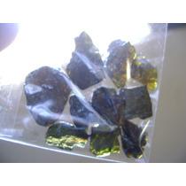 Natural Pedras Magnifica Granada Verde Lapidar Ou Colecionar