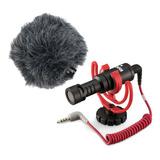 Microfone Com Acessórios Rode Videomicro Condensador Cardióide Black