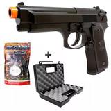 Pistola De Airsoft Spring Kwc Beretta 92 + 2000 Bbs + Maleta