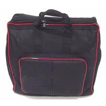 Capa Bag Para Acordeon 120 Baixos Master Luxo Vivo Vermelho