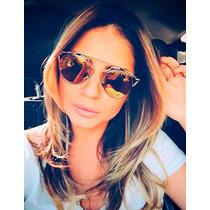 Oculos De Sol Feminino So Real Prata Várias Cores + Case