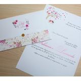 Convite De Casamento Muito Barato - Modelo Pe14