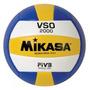 Bola Oficial Mikasa Volei Couro Sintetico Vso 2000