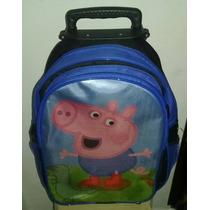 Mochila De Rodinhas George Pig (peppa)-pronta Entrega