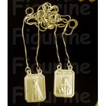 Escapulário N. Senhora Aparecida E S.c Jesus Banhado Ouro