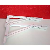 Suporte Dobrável Branco 50cm (o Par) P/ Mesas,bancadas Etc.