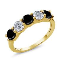 Black Diamond Anel De Ouro Amarelo