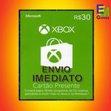 Microsoft Gift Card R$30 Reais Cartão Presente Xbox Live Br
