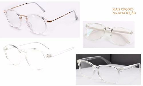 Armação Óculos Acessório Estética Descanso Transparente Novo b74163913b