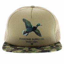 Boné Diamond Supply Co Snapback Original Game Skate Grizzly
