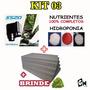 Kit 03 Espuma Fenólica + Nutrientes + Bomba 1.40m Hidroponia