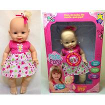 Promoção! Boneca Bebê Pede Papá Fala Frases - Divertoys