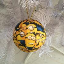 Bola Natal Minions - Kit 2 Bolas - 12cm