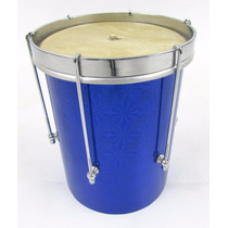 Cuíca 20x06 - P V C Holográfica Azul Inox - Forte Música