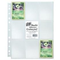 100 Folhas Plástica Fichário Cards Magic Pokémon Cartas Yes