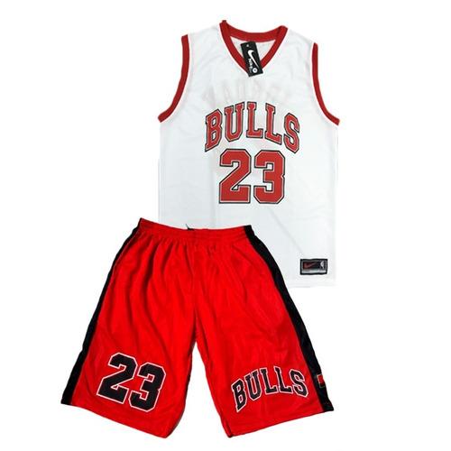 b60fb0987 Conjunto Basquete Adulto Nba Chicago Bulls Jordan Regata à venda em ...