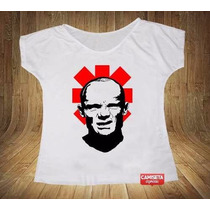 Camiseta Feminina Gola Canoa Flea Anthony Kiedis Red Hot