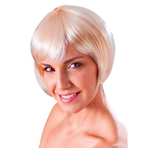 Peruca - Flirty Womens Ladies Flick Bob Glamour Sexy Blonde