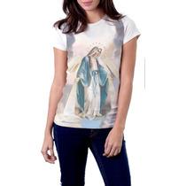 Camiseta Babylook Nossa Senhora Das Graças Religiosa Católic
