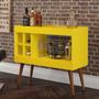 Aparador Sala Bar Com Adega Laguna - Amarelo - Rpm Móveis