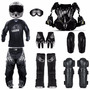 Kit Motocross Capacete + Oculos + Luvas + Proteção + Botas