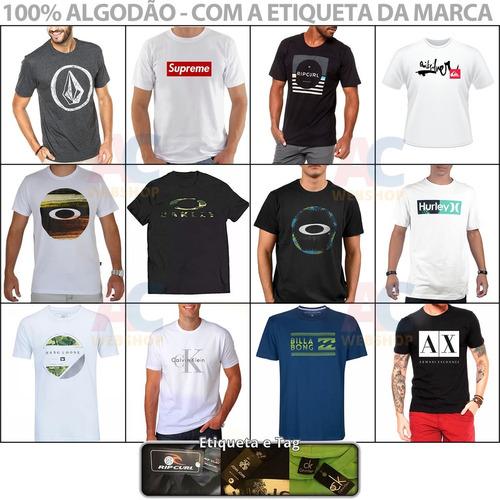 Kit 09 Camiseta Camisa Masculina Baratas Marcas Famosas. R  129.99 2b5bbfeed23fb