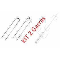 Kit 2x Garra Longa Para Espeto Giratório Em Inox Espetoflex