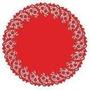 Toalha Rendada Papel Mago Doilies 30cm(300)vermelha C/10 Un