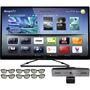 Smart Tv 42 Led 3d Wi-fi Ambilight + Câmera + Suporte Parede