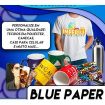 Papel Transfer Sublimatico Resinado Fundo Azul 100 Folhas A4