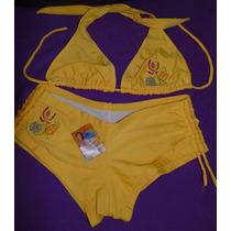 Biquine Feminino Mil Mares Modelo Shorts Tamanho Grande Bb