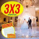 Tapete Pista Dança Personalizada Casamento Aniv Em Lona 3x3