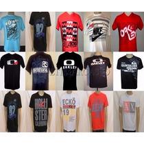 Kit C/ 30 Camisas Camiseta Marcas Famosas