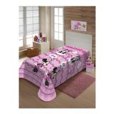 Cobertor Jolitex Ternille Manta Soft Solteiro Minnie Cute