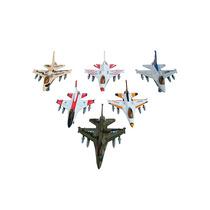 Caça A Jato F-16 Escala 1/130 Metal Com Fricção 12 Un.
