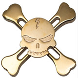 Spinner Metal Caveira Skull Pirata Rolamento Abec12 Melhor