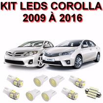 Kit Lampadas Led Corolla 2009 A 2016 Farol Teto Re