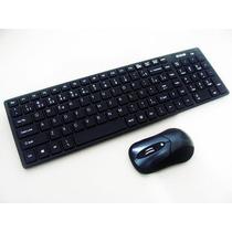 Kit Teclado + Mouse Wireless S/ Fio 1600 Dpi Smart Tv Notebo