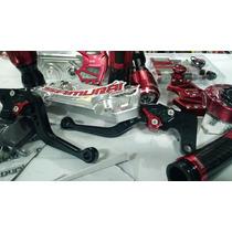 Kit Esportivo Yamaha Xj6 Slider Manete Maxracing Pisca Leds