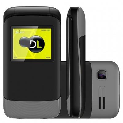 Oferta Celular Dl Yc230 Flip Dual Chip Desbloqueado Com Nf - e