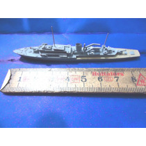 Brq - Navio De Guerra - Made W. Germany Metal Anos 50 - 8cm