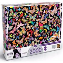 Quebra Cabeça Puzzle 2000pç Borboletas Da Grow