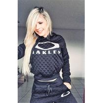 99c9ef447 Conjunto Moletom Feminino Oakley Moleton Casaco Calça Kit 3 à venda ...