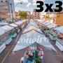 Lona 300 América Branca Impermeável P/ Barraca De Feira 3x3