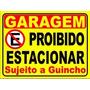 Placa Ps 2mm 40x50 Cm Proibido Estacionar