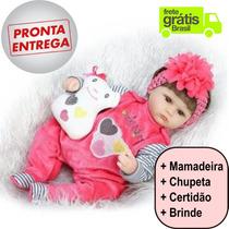 Boneca Bebe Reborn Silicone Importado Frete Grátis