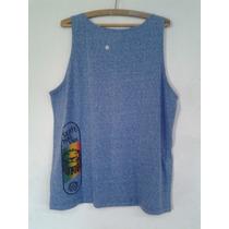 Camiseta Regata Leão Skate Reggae Azul