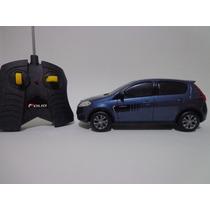 Carro Controle Remoto Fiat Novo Palio Azul 1/18 Cks