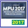Mpu Técnico Ministério Público 2017 Dvd Vídeo + Apostilas