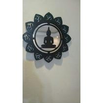 Quadro Mandala Yoga Em Mdf Com Acrílico Espelhado
